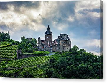 Canvas Print featuring the photograph Stahleck Castle by David Morefield