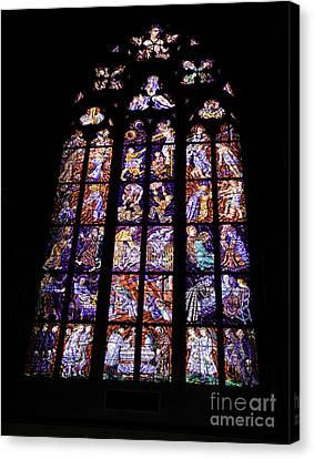 Stain Glass Window Canvas Print by Madeline Ellis