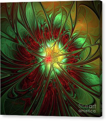 Staine Glass Canvas Print by Deborah Benoit