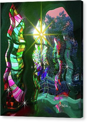 Stained Glass #4719_2 Canvas Print