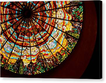Stained Glass Ceiling Canvas Print by Jerry McElroy
