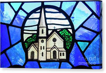 Stained Glass Church Canvas Print