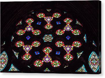 Canvas Print - Stained Glass Circle by Jean Noren