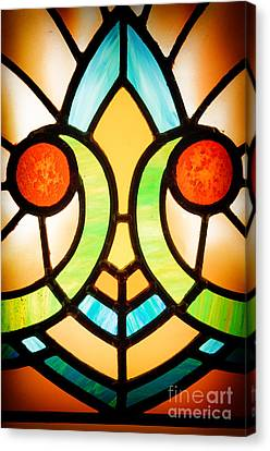 Stained Glass Detail Canvas Print by Jane Rix