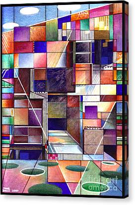 Stained Glass Factory Canvas Print by Jane Bucci
