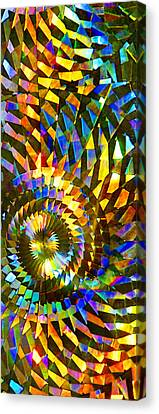Canvas Print featuring the photograph Stained Glass Fantasy 1 by Francesa Miller