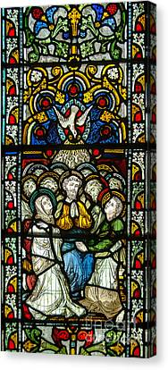Stained Glass In Christ Chuch Cathedral Dublin Canvas Print by RicardMN Photography
