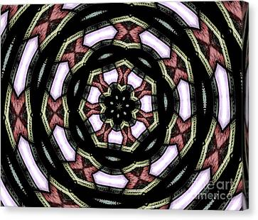 Canvas Print featuring the photograph Stained Glass Kaleidoscope 12 by Rose Santuci-Sofranko