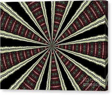 Canvas Print featuring the photograph Stained Glass Kaleidoscope 14 by Rose Santuci-Sofranko