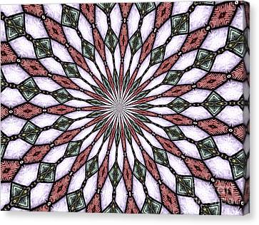 Canvas Print featuring the photograph Stained Glass Kaleidoscope 2 by Rose Santuci-Sofranko