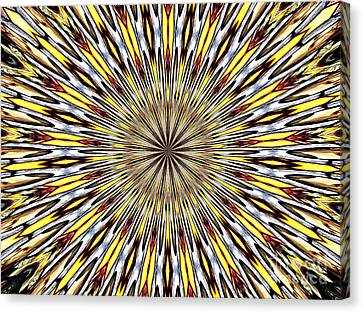 Canvas Print featuring the photograph Stained Glass Kaleidoscope 22 by Rose Santuci-Sofranko