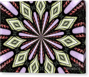 Canvas Print featuring the photograph Stained Glass Kaleidoscope 25 by Rose Santuci-Sofranko