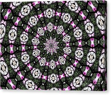 Canvas Print featuring the photograph Stained Glass Kaleidoscope 3 by Rose Santuci-Sofranko