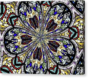 Stained Glass Kaleidoscope 38 Canvas Print by Rose Santuci-Sofranko