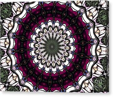 Canvas Print featuring the photograph Stained Glass Kaleidoscope 4 by Rose Santuci-Sofranko