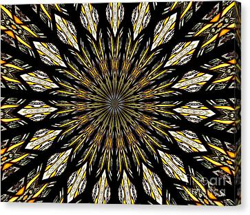 Canvas Print featuring the photograph Stained Glass Kaleidoscope 5 by Rose Santuci-Sofranko
