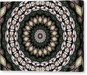 Canvas Print featuring the photograph Stained Glass Kaleidoscope 6 by Rose Santuci-Sofranko
