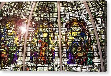 Stained Glass Canvas Print by Martin Newman