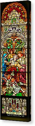 Canvas Print featuring the photograph Stained Glass Scene 1 - 3 by Adam Jewell