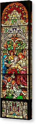 Canvas Print featuring the photograph Stained Glass Scene 1 - 4 by Adam Jewell