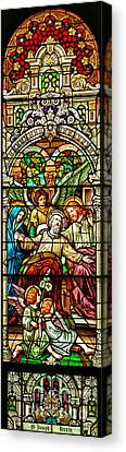 Canvas Print featuring the photograph Stained Glass Scene 1 by Adam Jewell
