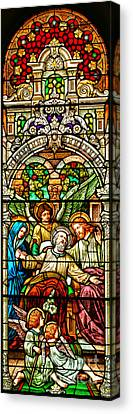 Canvas Print featuring the photograph Stained Glass Scene 1 Crop by Adam Jewell