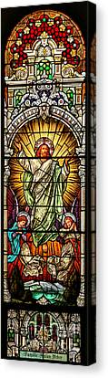 Canvas Print featuring the photograph Stained Glass Scene 10 by Adam Jewell