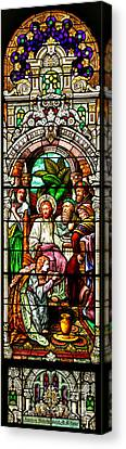 Canvas Print featuring the photograph Stained Glass Scene 11 by Adam Jewell