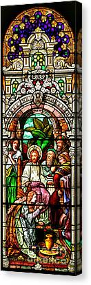 Canvas Print featuring the photograph Stained Glass Scene 11 Crop by Adam Jewell