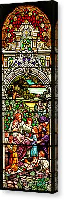 Canvas Print featuring the photograph Stained Glass Scene 12 by Adam Jewell