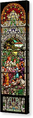 Canvas Print featuring the photograph Stained Glass Scene 12 Crop by Adam Jewell