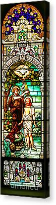 Canvas Print featuring the photograph Stained Glass Scene 2 by Adam Jewell