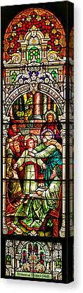 Canvas Print featuring the photograph Stained Glass Scene 3 by Adam Jewell