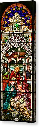 Canvas Print featuring the photograph Stained Glass Scene 4 - 2 by Adam Jewell