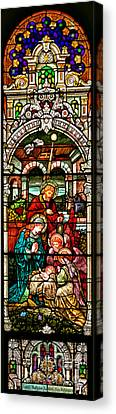 Canvas Print featuring the photograph Stained Glass Scene 4 by Adam Jewell