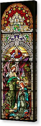 Canvas Print featuring the photograph Stained Glass Scene 5 by Adam Jewell
