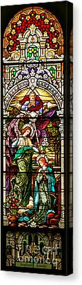 Canvas Print featuring the photograph Stained Glass Scene 5 Crop by Adam Jewell