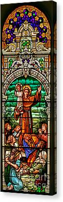 Canvas Print featuring the photograph Stained Glass Scene 6 Crop by Adam Jewell