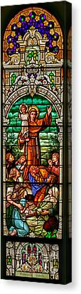 Canvas Print featuring the photograph Stained Glass Scene 6 Full Size by Adam Jewell