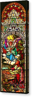 Canvas Print featuring the photograph Stained Glass Scene 7 Crop by Adam Jewell