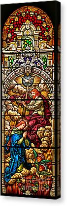 Canvas Print featuring the photograph Stained Glass Scene 7 Crops by Adam Jewell