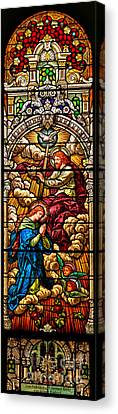 Canvas Print featuring the photograph Stained Glass Scene 8 by Adam Jewell