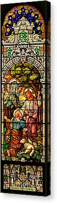 Canvas Print featuring the photograph Stained Glass Scene 9 by Adam Jewell