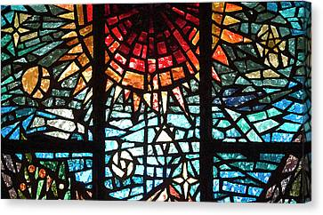 Canvas Print featuring the photograph Stained Glass Sun by Michael Flood