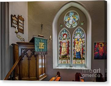 Hymn Canvas Print - Stained Glass Uk by Adrian Evans