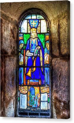Stained Glass Window Edinburgh Canvas Print by David Pyatt