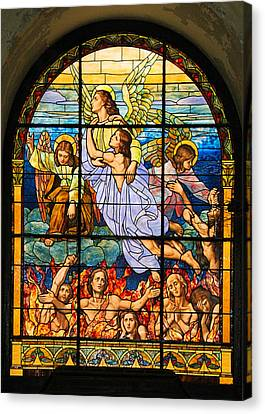Canvas Print featuring the photograph Stained Glass Window by Elizabeth Budd