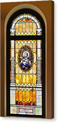 Stained Glass Window Father Antonio Ubach Canvas Print
