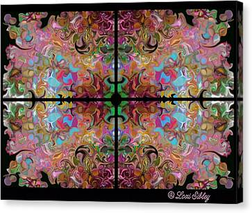 Stained Glass Window Canvas Print by Loxi Sibley