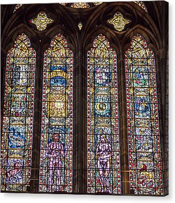 Canvas Print - Stained Glass Wonder by Jean Noren